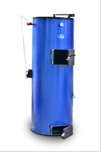 «Віта Клімат»   35 кВт  Потужність, кВт 35 Об'єм води в котлі, л53 Висота завантаження, мм1400 Діаметр завантаження, мм600 Об'єм завантаження, л400 Висота котла (з облицюванням), мм2070 Діаметр котла (з облицюванням), мм700 Маса котла, кг (не більше)315 Розмір димоходу, мм160 Від підлоги до центру труби виведення       димоходу котла, мм1690 Діаметр з'єднувальних патрубків Г / мм2'' Робочий тиск води в системі, КПа (кг / см 2 / не більше)180 (1,8) Максимальна температура води в котлі, (o C), не більше90 Тяга в димохід за котлом (Па)21 Рекомендована довжина дров, мм480-550