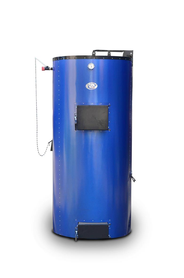 «Віта Клімат»   50 кВт  Потужність, кВт 50 Об'єм води в котлі, л78 Висота завантаження, мм1400 Діаметр завантаження, мм760 Об'єм завантаження, л499 Висота котла (з облицюванням), мм2070 Діаметр котла (з облицюванням), мм800 Маса котла, кг (не більше)450 Розмір димоходу, мм160 Від підлоги до центру труби виведення       димоходу котла, мм1690 Діаметр з'єднувальних патрубків Г / мм2'' Робочий тиск води в системі, КПа (кг / см 2 / не більше)180 (1,8) Максимальна температура води в котлі, (o C), не більше90 Тяга в димохід за котлом (Па)25-30 Рекомендована довжина дров, мм520-570